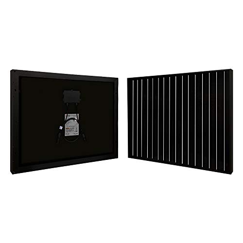 Richsolar Black 20 Watt 12 Volt Off Grid Portable Monocrystalline Solar Panel