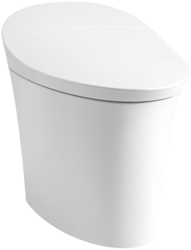KOHLER K-5401-0 Veil Skirted 1 Piece Smart, Dual Flush Toilet in White