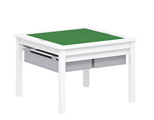 UTEX 2 in 1 Kids Construction Play Table with Storage Drawers and Built in