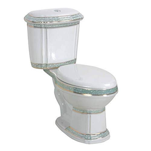 Deluxe Two Piece Elongated Toilet Push Button