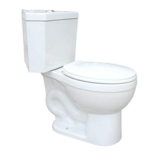 Troyt Corner 2-Piece Round Bathroom Toilet 0.8/1.6 GPF Hi Low Button Flush