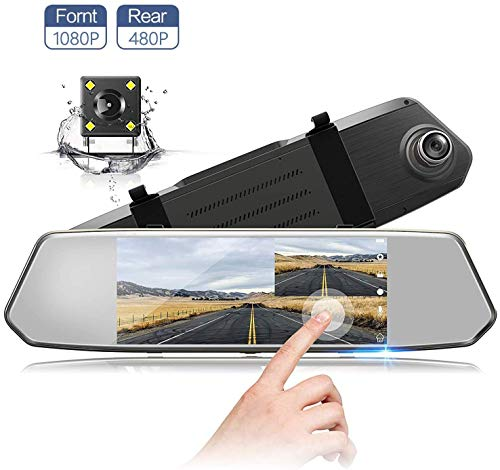 7 Inch Touch Screen Rearview Mirror Car Camera