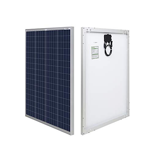 HQST 100 Watt 12 Volt Polycrystalline Solar Panel with MC4 Connectors High