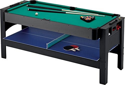 Fat Cat Original 3-In-1, 6-Foot Flip Game Table - Air Hockey, Billiards And Table