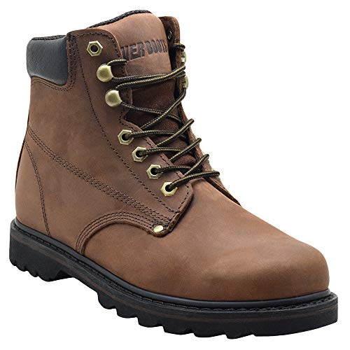 EVER BOOTS 'Tank Men's Soft Toe Oil Full Grain Leather Insulated Work Boots...