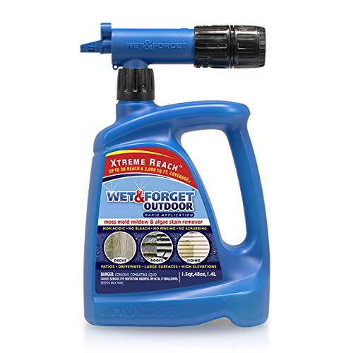 Wet and Forget 805048 Moss, Mold, Mildew and Algae Stain Remover Hose End