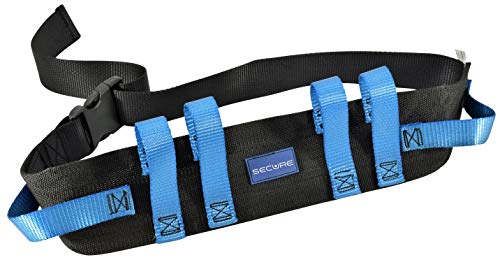 Secure Transfer and Walking Gait Belt with 6 Caregiver Hand Grips - Patient