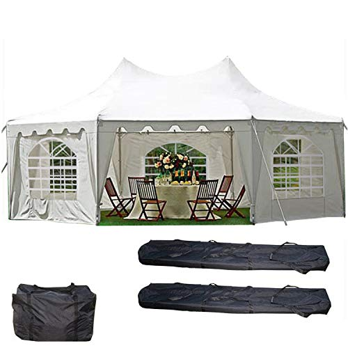 DELTA Canopies 29'x21' Decagonal Wedding Party Tent Canopy Gazebo Heavy