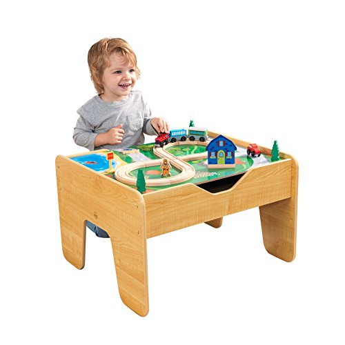 KidKraft 2-in-1 Reversible Top Activity Table with 200 Building Bricks