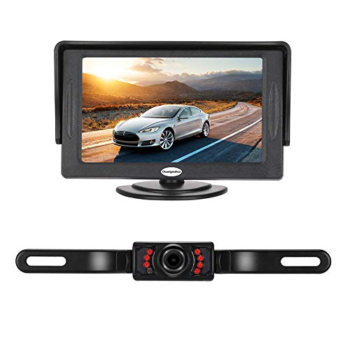 Backup Camera and Monitor Kit for Car, Universal Wired Waterproof Rear-View