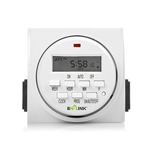 BN-LINK 7 Day Heavy Duty Digital Programmable Timer, FD60 U6