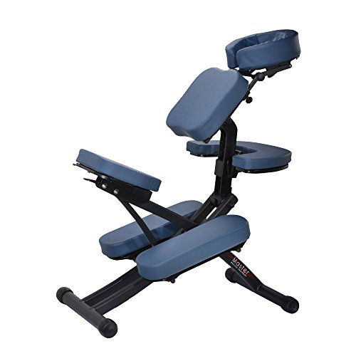 Master Massage RIO Portable Massage Chair Lightweight Royal Blue