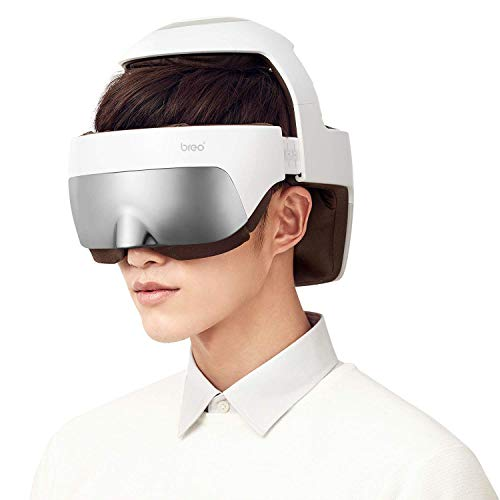 Breo iDream5 Head Massager, Rechargeable Eye Massager 2-in-1 Electric
