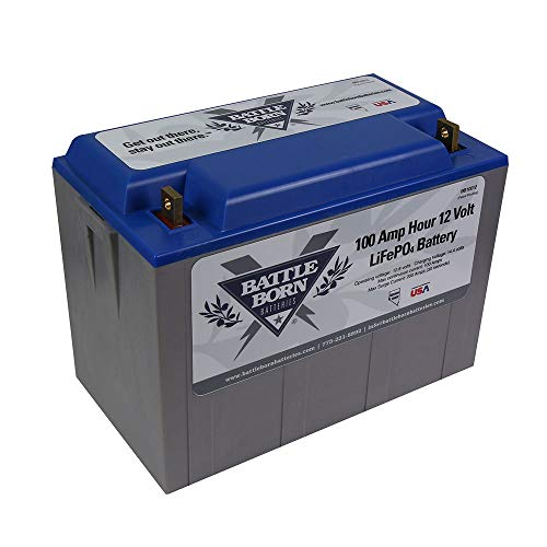Battle Born LiFePO4 Deep Cycle Battery - 100Ah 12v with Built-in BMS - 3000