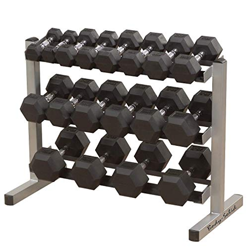 Body-Solid Three-Tier Horizontal Dumbbell Rack (GDR363)