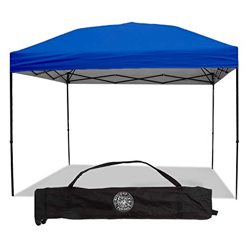 Punchau Pop Up Canopy Tent 10 x 10 Feet, Blue - UV Coated, Straight Leg