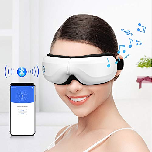Bromose Wireless Foldable Rechargeable Eye Massager, Intelligent Mode One-Click...