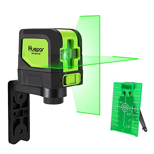 Huepar Cross Line Laser - DIY Self-Leveling Green Beam Horizontal and Vertical