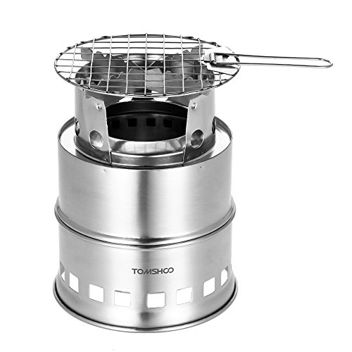 TOMSHOO Camping Stove Camp Wood Stove Portable Foldable Stainless Steel
