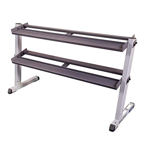 Body-Solid 2-Tier Horizontal Dumbbell Rack (GDR60)