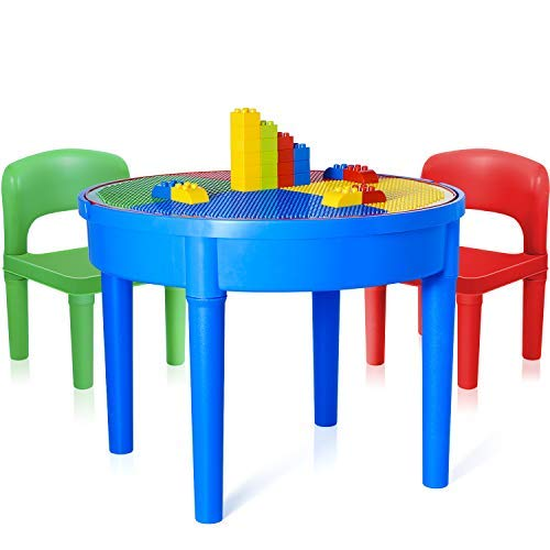 Exercise N Play Kids Activity Table Set - 3 in 1 Round Water Table