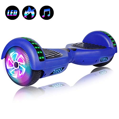 Felimoda Self Balancing Hoverboards with LED Light and Carrying Case
