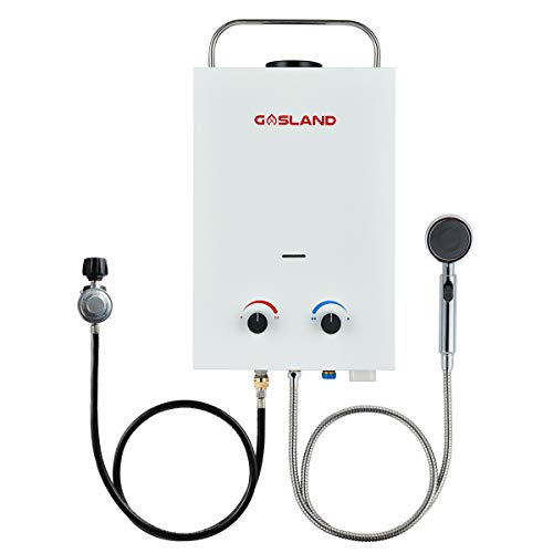 Tankless Water Heater, Gasland BS158 1.58GPM 6L Outdoor Portable Gas Water