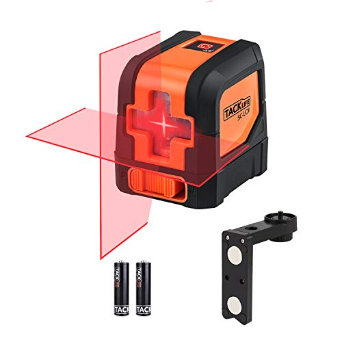 Tacklife SC-L01-50 Feet Laser Level Self-Leveling Horizontal and Vertical Cross