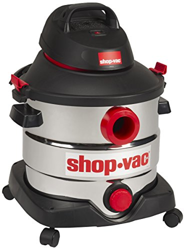 Shop-Vac 5989400 8 gallons 6.0 Peak HP Stainless Wet Dry Vacuum, Black