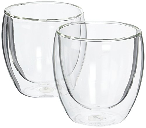 Bodum Pavina Glass, Double-Wall Insulated Glasses, Clear, 8 Ounces Each