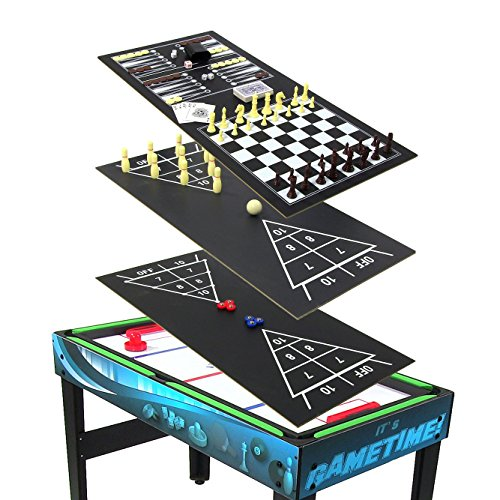 Sunnydaze 10 Combination Multi Game Table With Billiards, Push Hockey