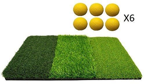 TrueBirdie Golf Chipping Mat with 6 Foam Practice Balls