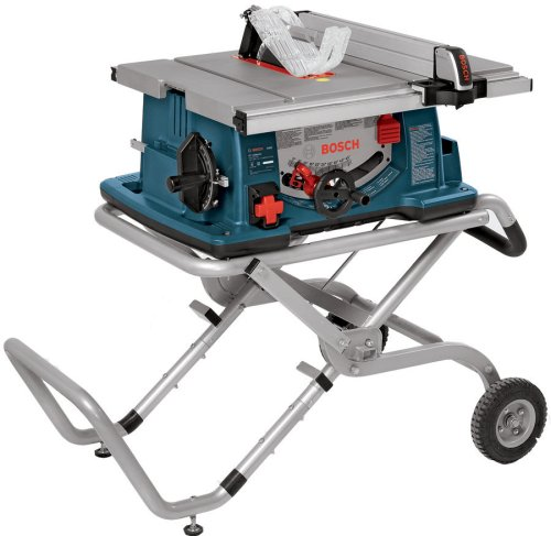 Bosch 10-Inch Worksite Table Saw 4100-09 with Gravity-Rise Wheeled Stand;