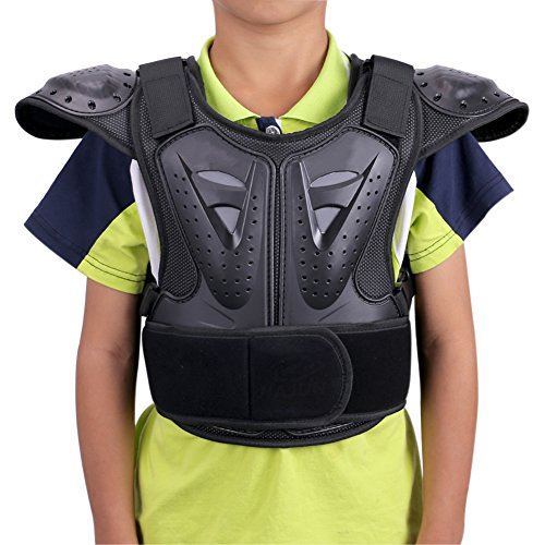 WINGOFFLY Kids Chest Spine Protector Body Armor Vest Protective Gear
