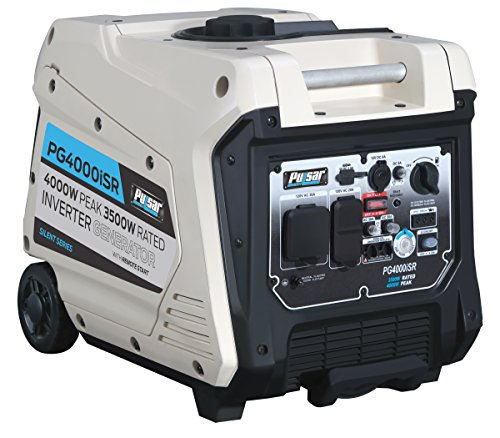 Pulsar 4000W Portable Gas-Powered Quiet Inverter Generator with Remote Start & Parallel Capability