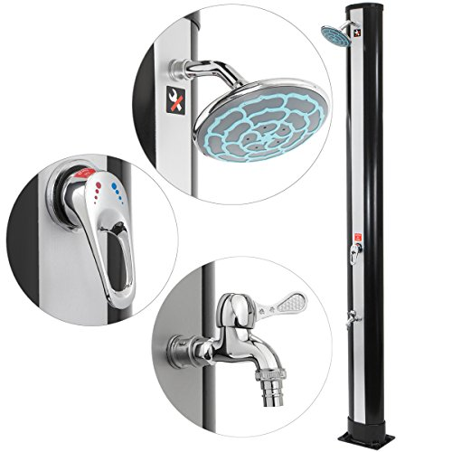 XtremepowerUS Outdoor Solar Powered Shower Hot & Cold Adjustment Base