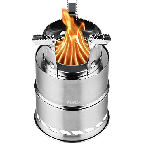 CANWAY Camping Stove, Wood Stove/Backpacking Stove,Portable Stainless