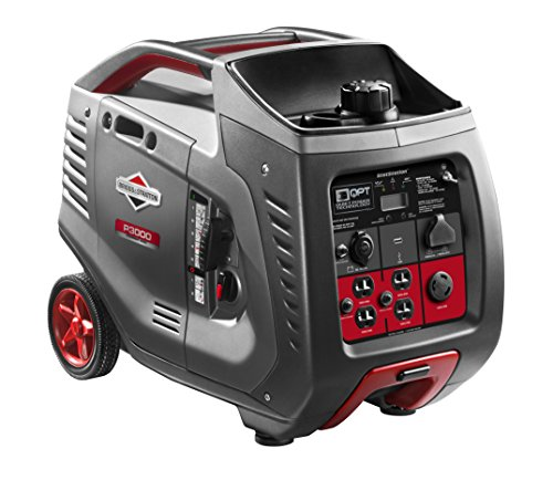 Briggs & Stratton P3000 PowerSmart Series Inverter Generator with LCD Display and Quiet Power Technology