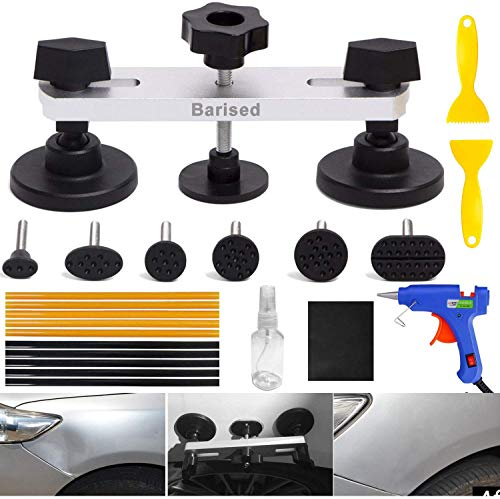 ARISD 22PCS Auto Body Paintless Dent Removal Tools Kit Bridge Dent Puller