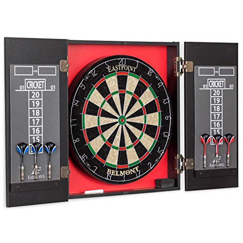 EastPoint Sports Belmont Bristle Dartboard and Cabinet Set