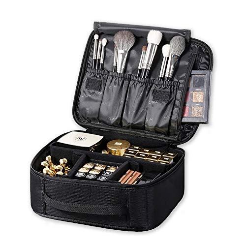 ROWNYEON Makeup Train Case Makeup Bag Organizer Travel Makeup Case