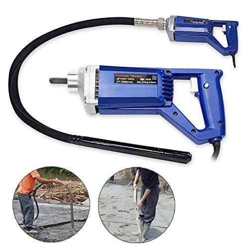 Hand Held Concrete Vibrator 1 HP 750W Electric 13000 Vibrations per Minute