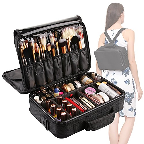 VASKER Large Makeup Case 3 Layers Makeup Bag Organizer Waterproof Travel Cosmetic Case