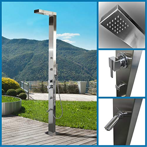 316 Marine Grade Stainless Steel Massage Outdoor Shower Panel (WINDSOR