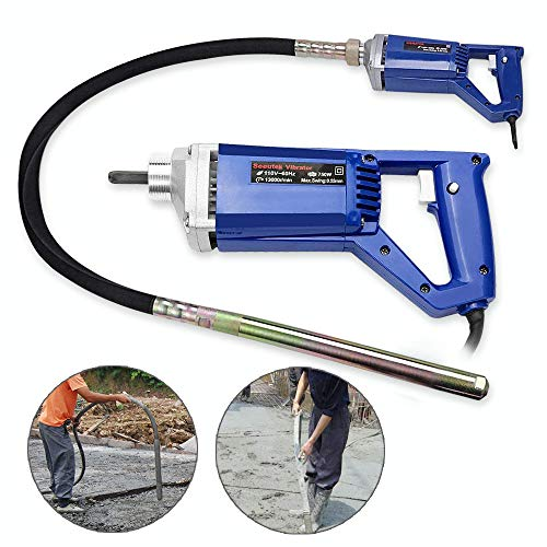 Hand Held Concrete Vibrator 1 HP 750W Electric Vibrator 13000 Vibrations per