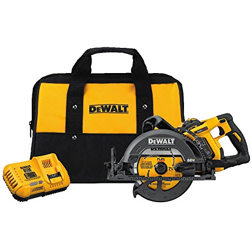 "DEWALT DCS577X1 FLEXVOLT 60V MAX 7-1/4"" Worm Style Saw Kit, 9.0Ah Battery"