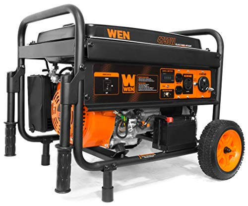 Wen 56475-4750 Watt Gasoline Powered Portable Generator with Electric Start, CARB Compliant