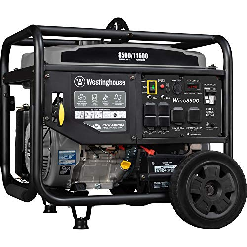 Westinghouse WPro8500 Super Duty Industrial Portable Generator - 8500 Rated