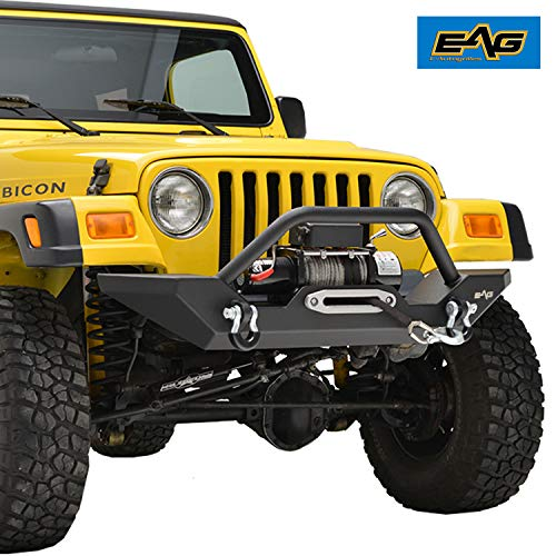 EAG Front Bumper with 2x D-ring & Winch Plate