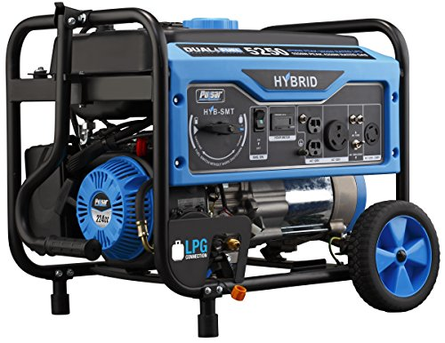 Pulsar 5,250W Dual Fuel Portable Generator with Switch and Go Technology